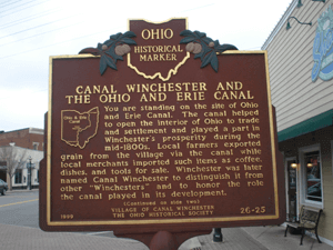 Sign in Downtown Canal WInchester where a Physical Therapy Clinic in Canal Winchester is located