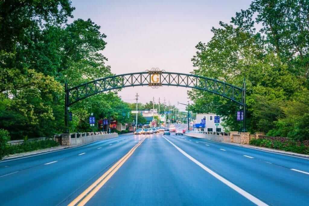 City of Gahanna Ohio archway